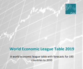 World Economic League Table with forecasts for 193 countries from 2019 – 2033